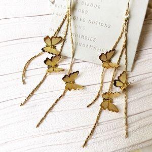 Anthropologie Jewelry - Anthropologie Raised Butterfly Earrings